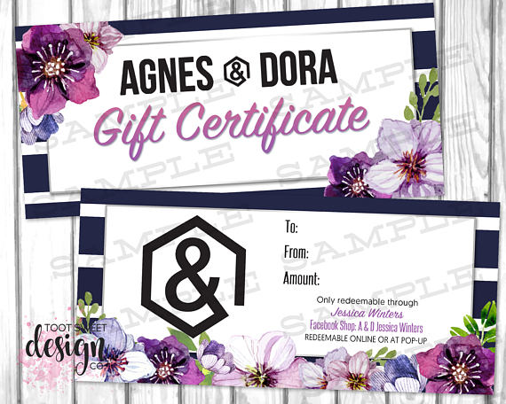 Agnes and dora gift certificate gift card ad personalized coupon agnes and dora gift certificate agnes dora gift card ad personalized coupon voucher colourmoves