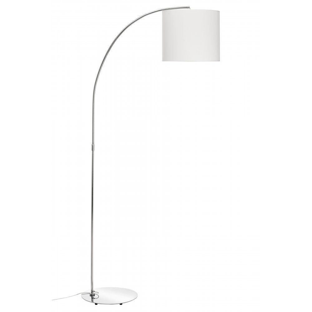 Fusion living curved chrome floor standing lamp with white shade fusion living curved chrome floor standing lamp with white shade amazon mozeypictures Choice Image
