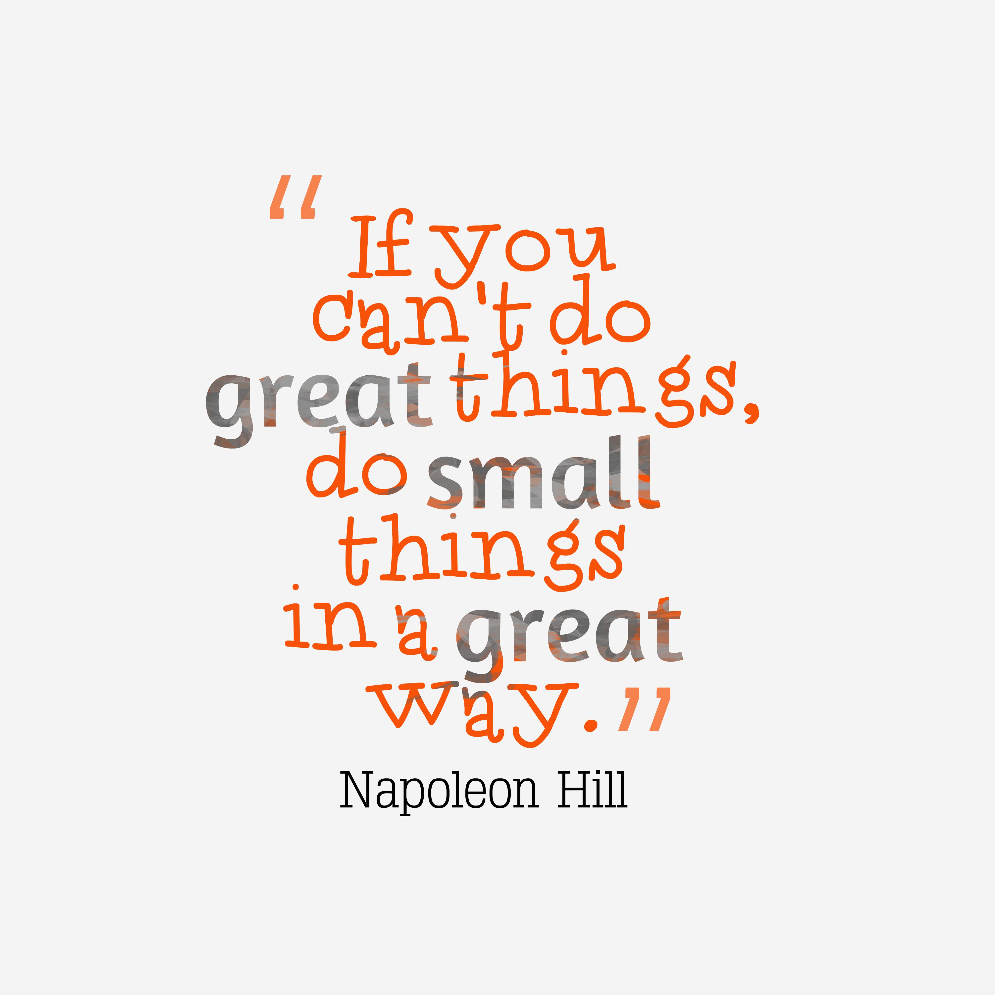 Napoleon Hill quote about achievement. in 2020 | Napoleon ...
