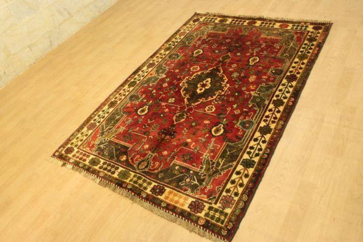 Qashqai Wunderschöner Perser Teppich Handgeknüpfte 201 x