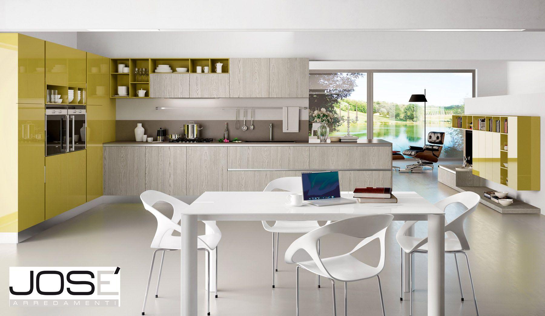 Cucina - bianca e gialla | Le cucine di Josè Arredamenti | Pinterest