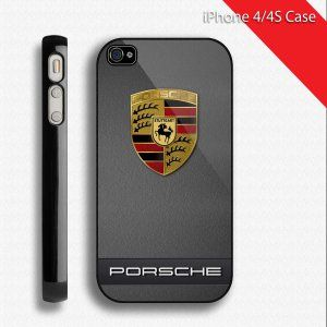 Sport Design Black Porsche Car Hard Case Cover For Apple Iphone 4 4g 4s Cases