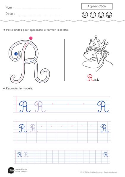 Magnifique contenu sur Apprendre à écrire la lettre R