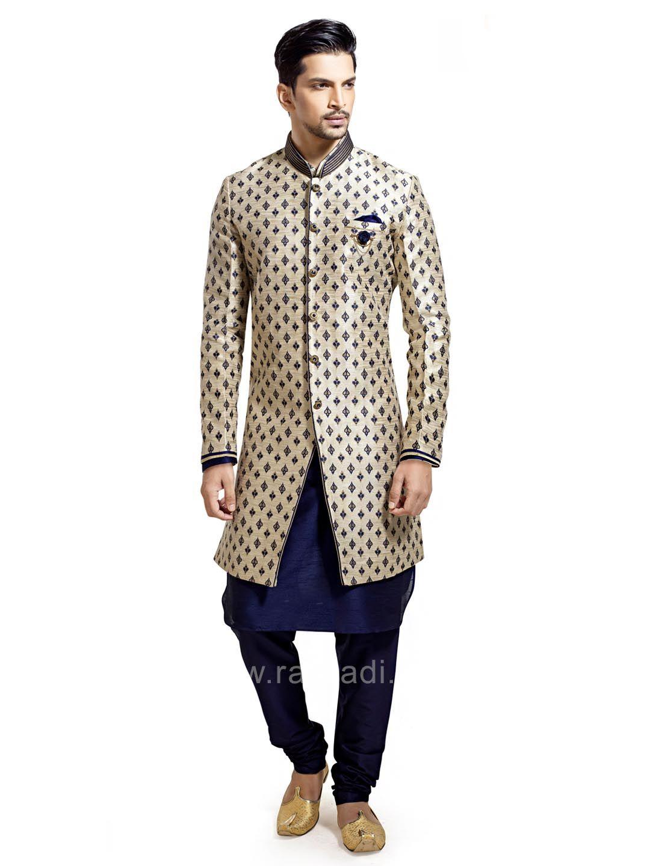 Navy blue and cream color indo western rajwadi indowestern trendy