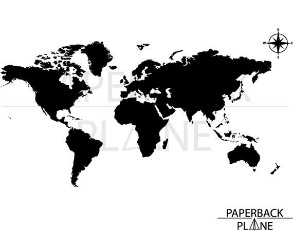 World map north america usa map SVG PNG DXF cut by Paperbackplane