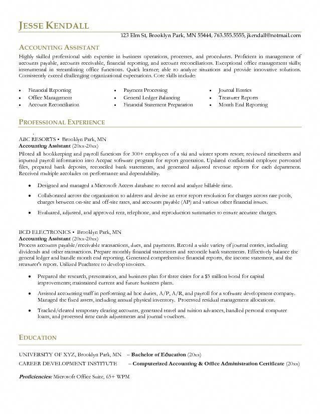 Pin by Mannu Rana on Sample resume | Accountant resume ...
