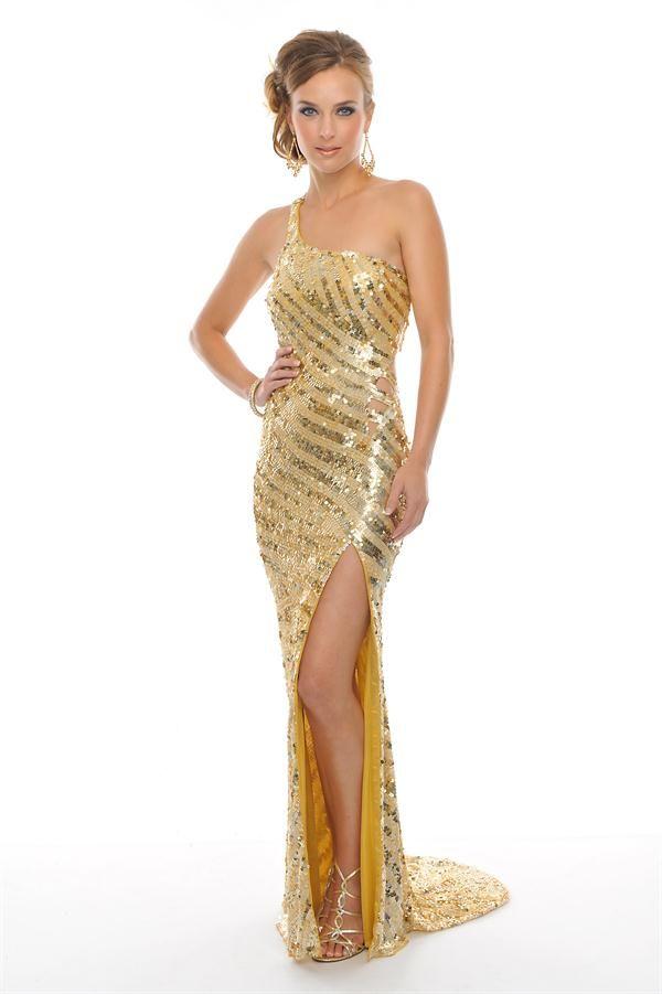 Fotos De Vestidos Largos De Fiesta De Color Dorado Vestido