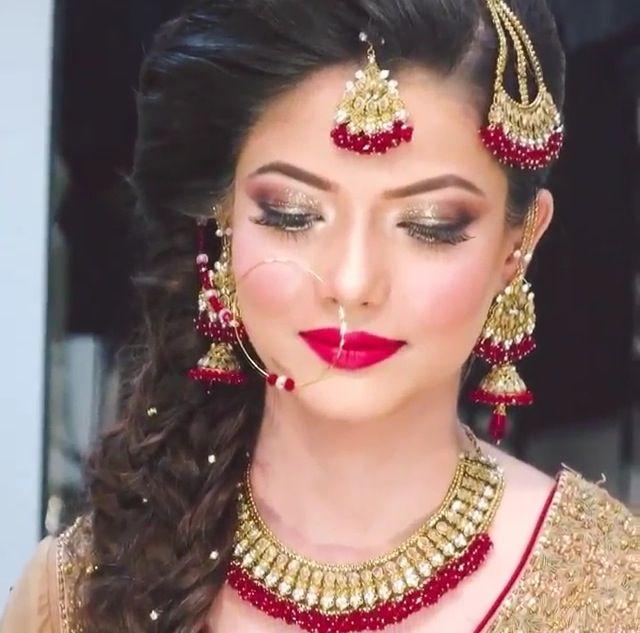 Beautiful pakistani bride by Natasha's Salon