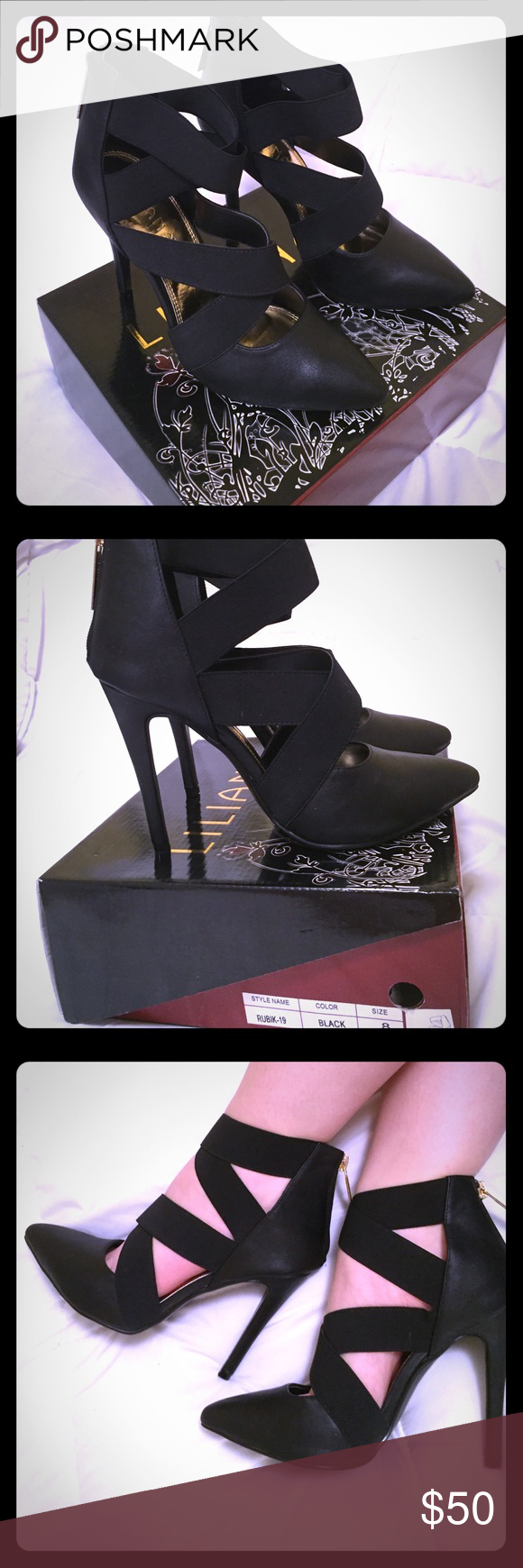 2e9d2f2c7aa Black Leather Pointed Toe Heels Brand new black leather heels! Never worn  except to try