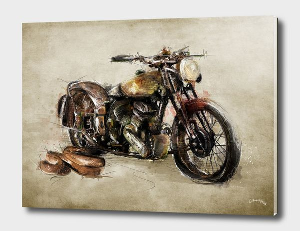 Discover «Brough Superior #1», Exclusive Edition Acrylic Glass Print by Claudio Tosi - From 80€ - #curioos #inspiration #artist #illustrator #photoshop #art #artwork #photooftheday #homedecor #home #deco #interior #interiordesign #illustration #decor #digitalart #creativity #creative #digital #visualart #photo #artprint #graphic #design #graphicdesign #Handmade