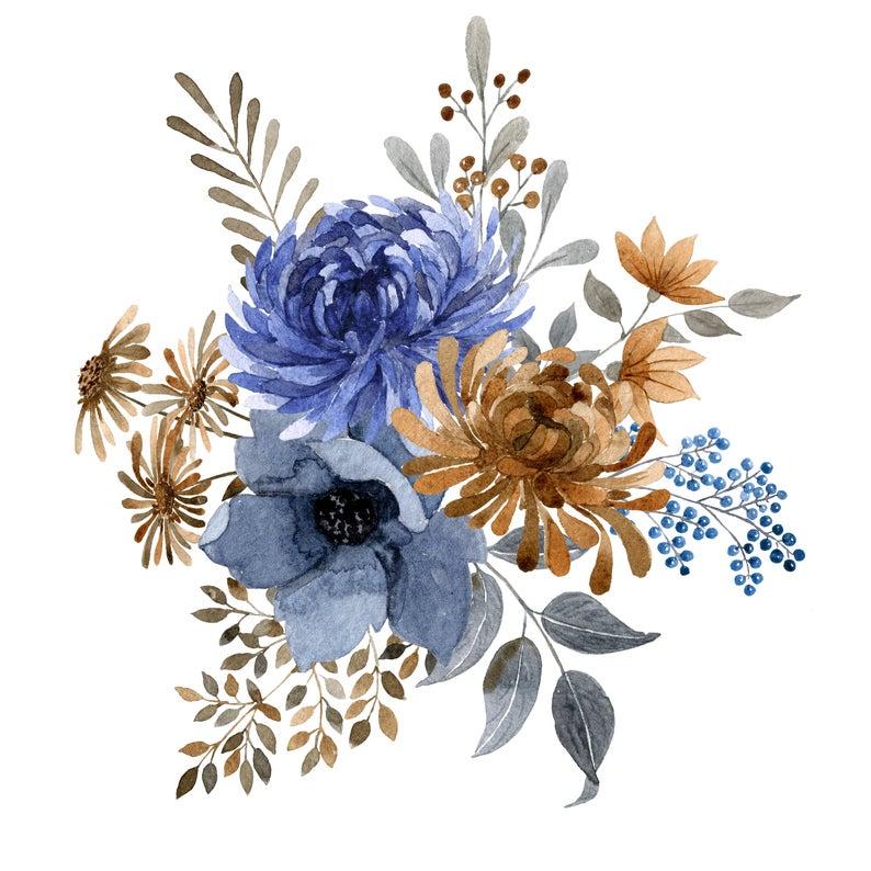 Autumn Watercolor Flowers Leaves Floral Bouquets Frames Etsy In 2021 Loose Watercolor Flowers Watercolor Floral Pattern Watercolor Flowers