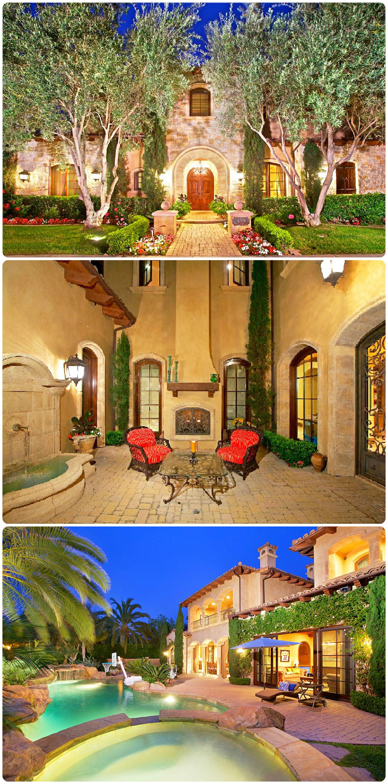 impeccable tuscan villa feautring private courtyard with fountain