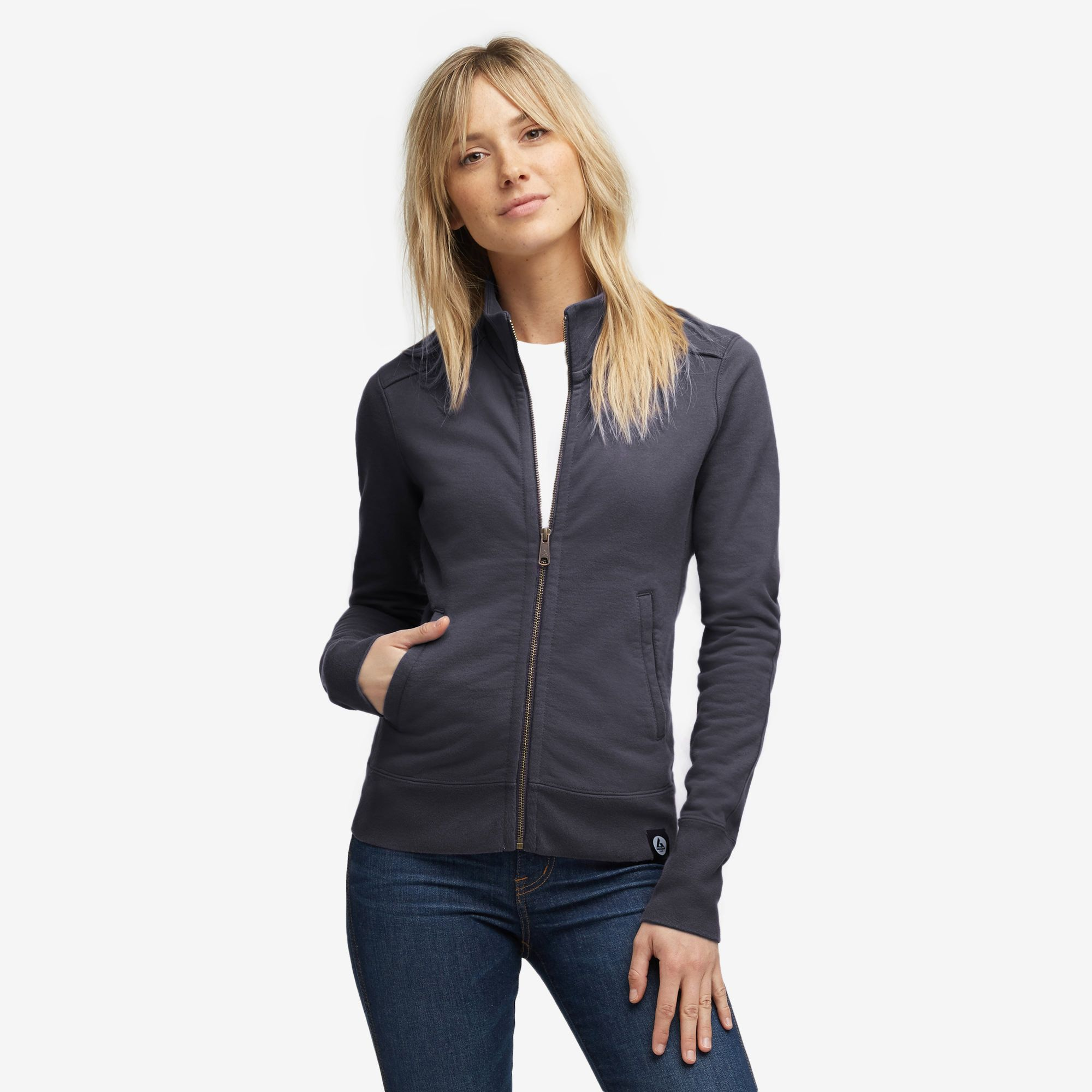 Moto Full Zip Black Clothes for women, Jackets
