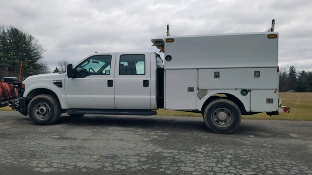 2010 Ford F 350 Crew Cab 4x4 Utility Truck With Snow Plow Your
