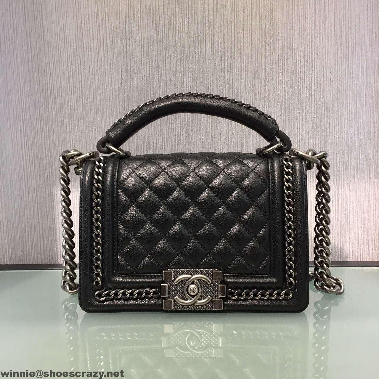 3f0170c12eff Chanel Small Boy Chanel Chain Handle Flap Bag