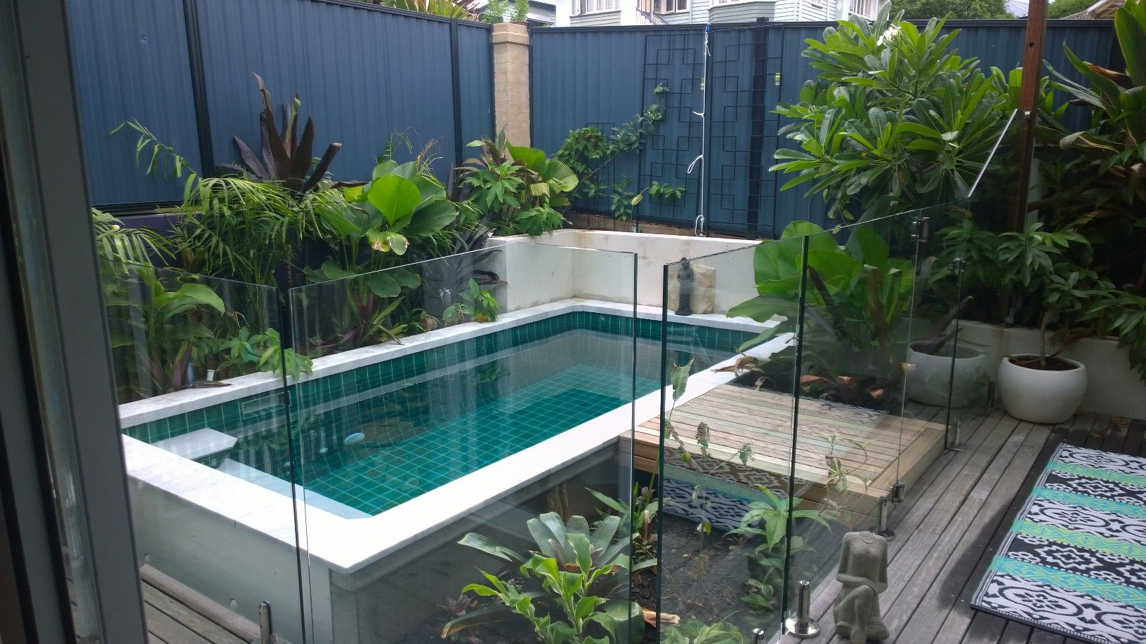 Beautiful Installation Of Our Rectangle Australian Plunge Pool Rectangle Pool Plunge Pool Pool Landscaping