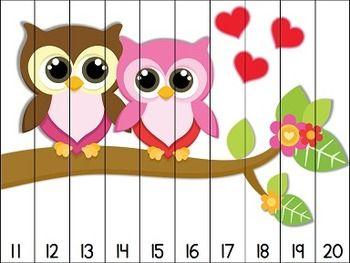 afbeelding in delen maken en aan de onderzijde nummer van de getallijn zetten, zodat ze de juiste afbeelding krijgen wanneer de nummer op de juiste volgorde zijn gelegd.