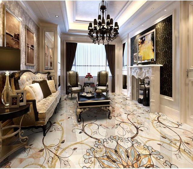 Aliexpress Com Buy European Style 3d Floor Tiles Mural: 3d Flooring Wallpaper Custom Waterproof 3d Pvc Flooring