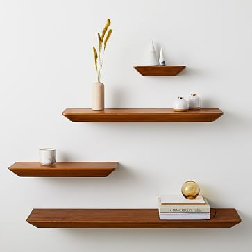 Slim Floating Shelf Acorn In 2020 Modern Floating Shelves Wood Floating Shelves Reclaimed Wood Floating Shelves