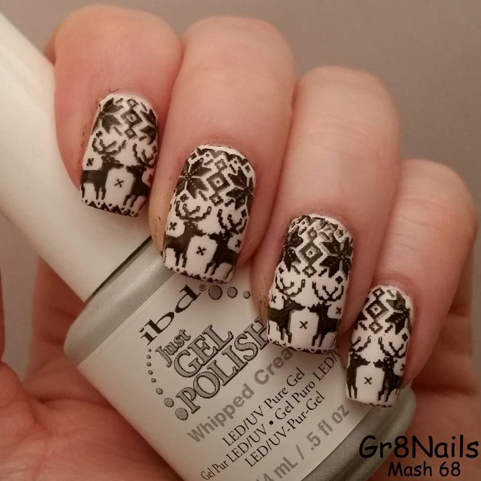 Christmas Nail Art With Mash Nail Stamping Plates Nailaholic
