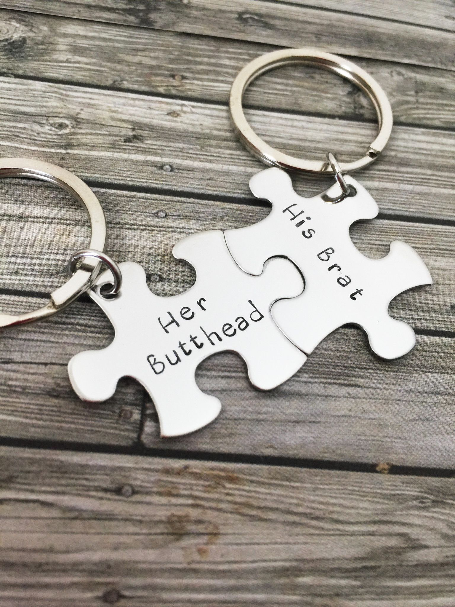 Her Head His Brat S Keychains Gift Funny Christmas