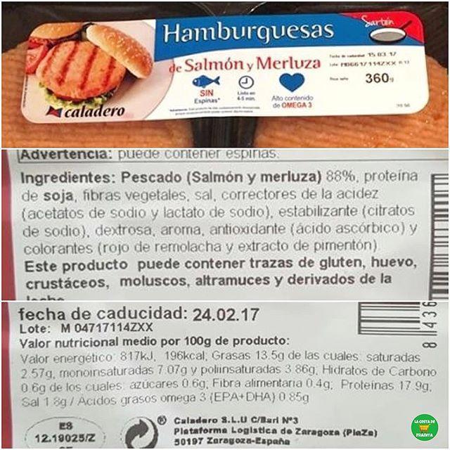 Hamburguesas De Salmon Y Merluza Caladero Supermercado