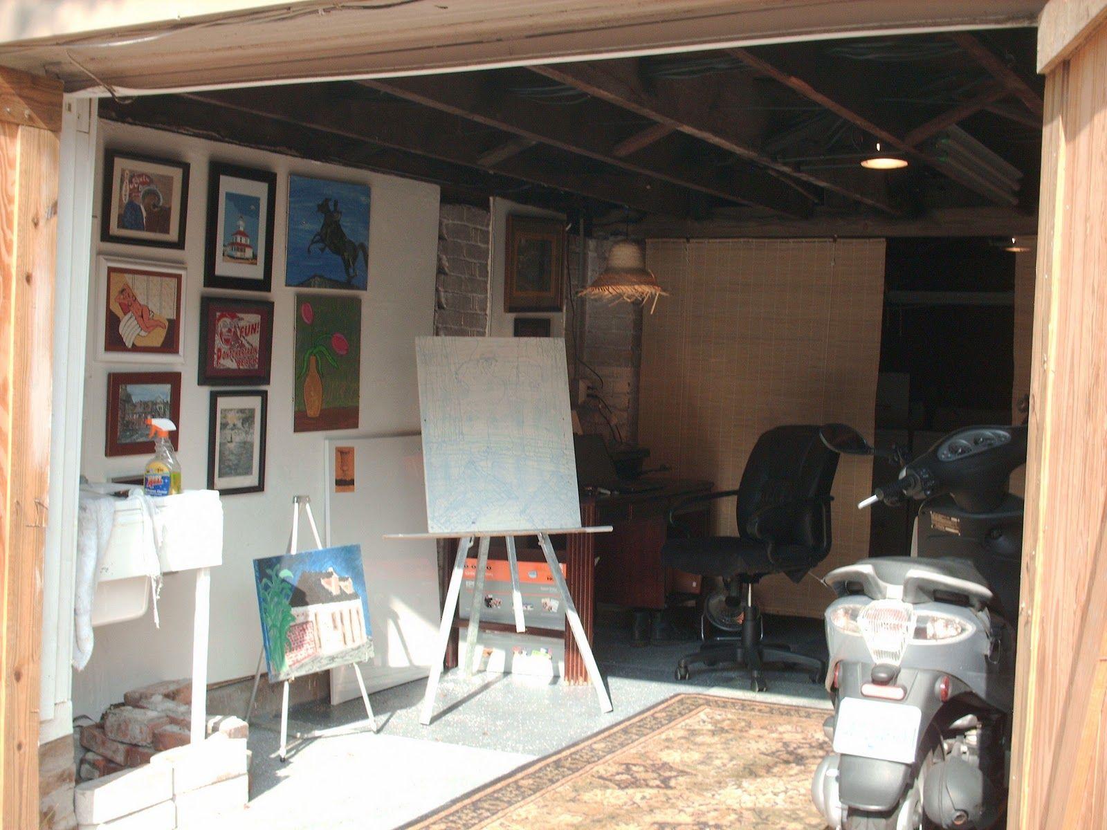 Afbeeldingsresultaat voor garage studio garage art