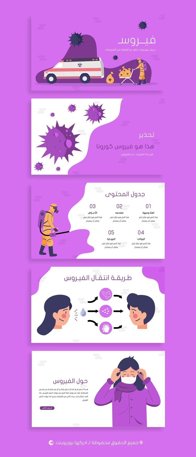 فيروس تصميم بوربوينت جاهز لعمل برزنتيشن عن الفيروسات ادركها بوربوينت Powerpoint Presentation Design Powerpoint Presentation Presentation Design