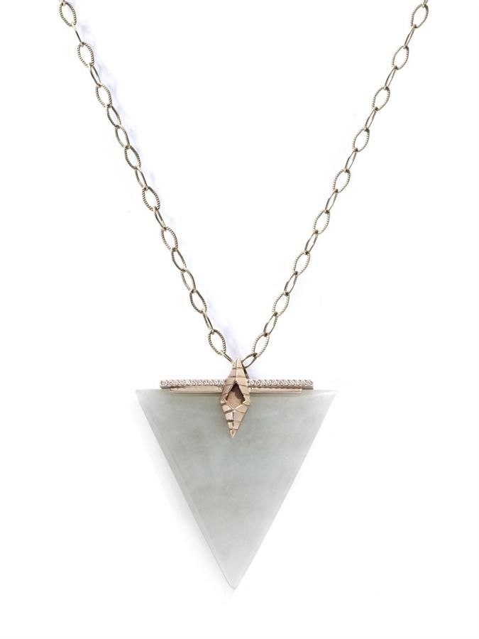 Monique Péan Diamond, jade & white-gold necklace