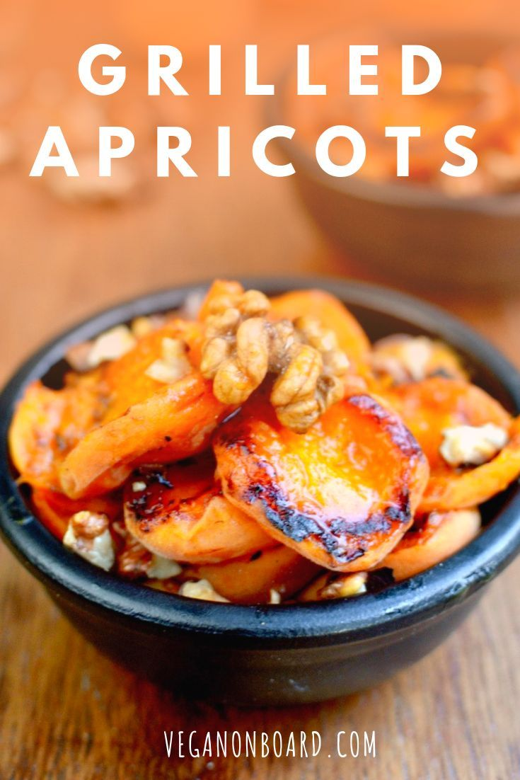 Grilled Apricots with Walnuts This two ingredient dessert is beautifully simple. Sweet and  juicy grilled apricots bursting with flavour, combined with the crunch  of tasty toasted walnuts.