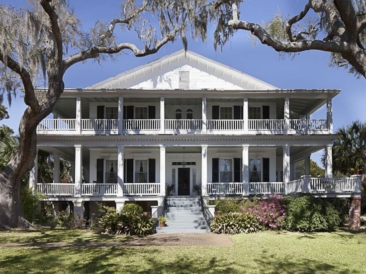 old florida homes with wrap around porch  Love the double wrap around porch Just paint it pale yellow with