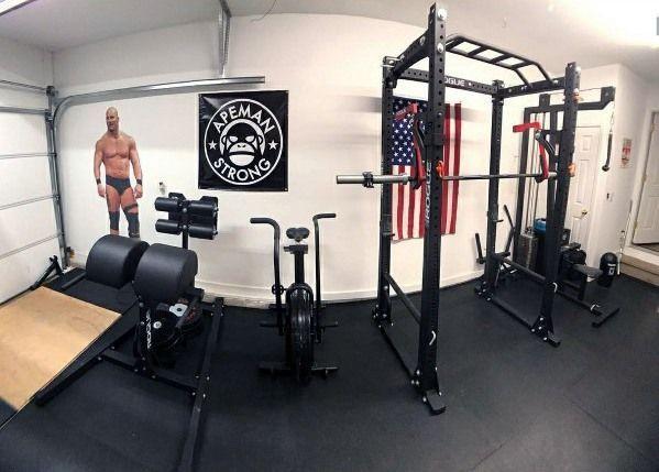 Top 75 besten Garage Gym Ideen – Home Fitness Center Designs - #besten #Center #Designs #Fitness #ga...