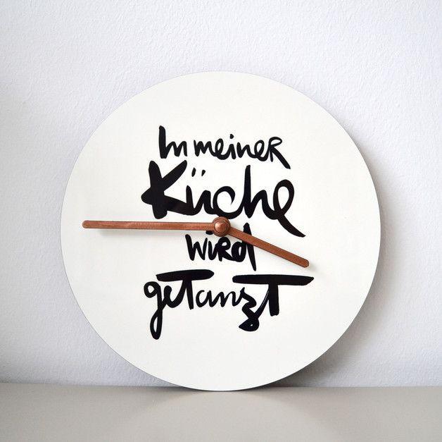 In meiner Küche wird getanzt - Wanduhr von Formart Die Zeit ist reif - wanduhr für küche