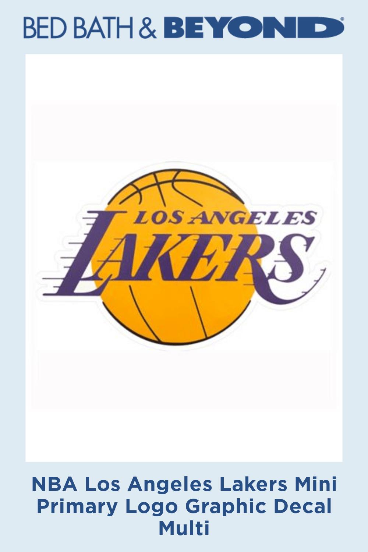 Nba Los Angeles Lakers Mini Primary Logo Graphic Decal In 2020 Los Angeles Lakers Logo Los Angeles Lakers Lakers Logo