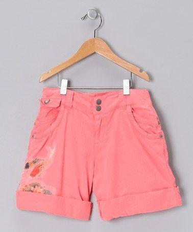 Take a look at this Crayon Koi & Lotus Silk-Blend Shorts by Da-Nang on #zulily today!