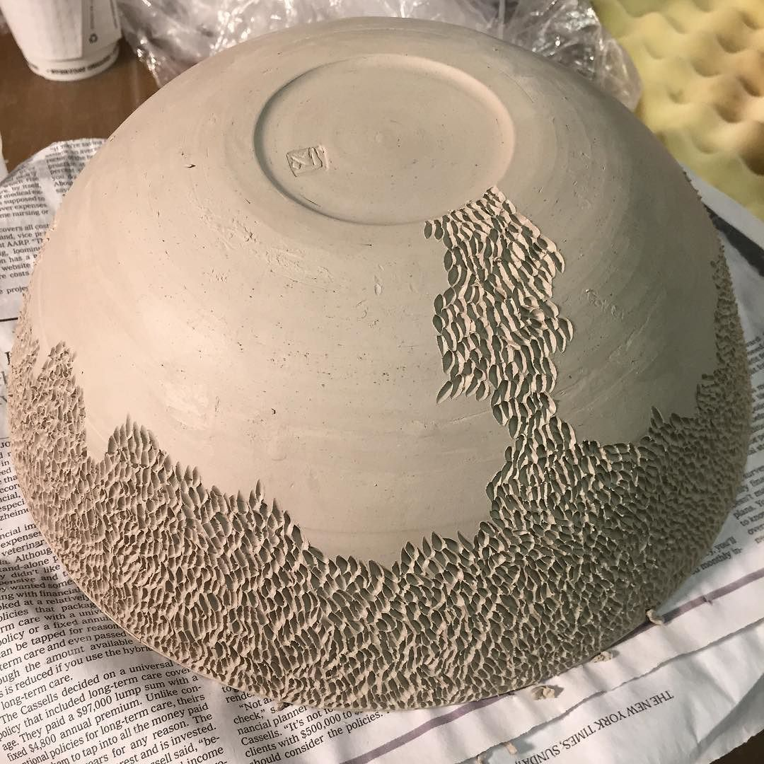 Carving in process studiolife ceramics detail