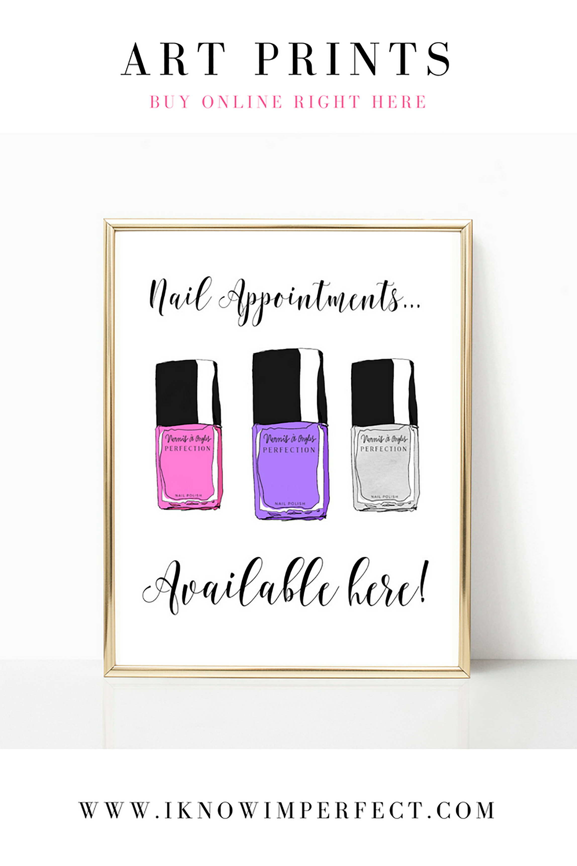 Beautiful fun and impossibly girly art prints perfect for adding a