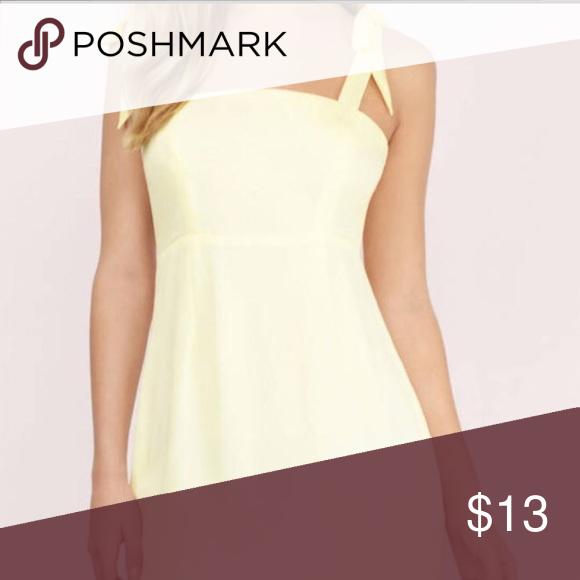 Mini Yellow Dress Never worn, still has tags Tobi Dresses Mini