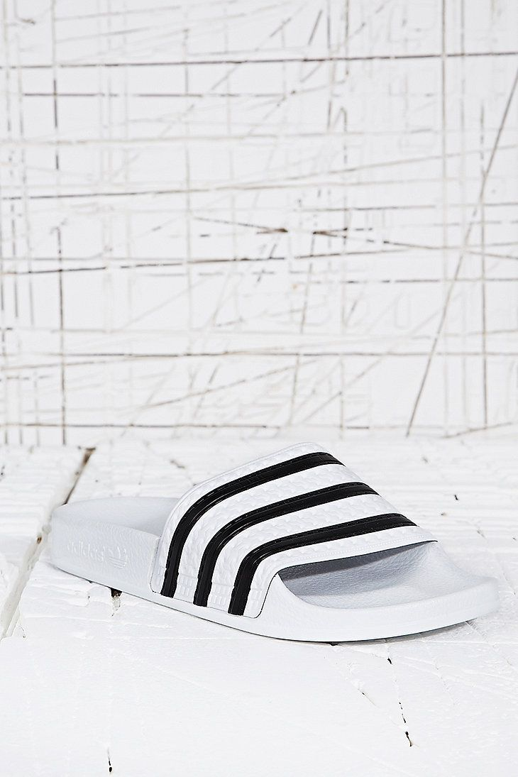 d7da1d02ccd Adidas Adilette Pool Sliders in White - Urban Outfitters