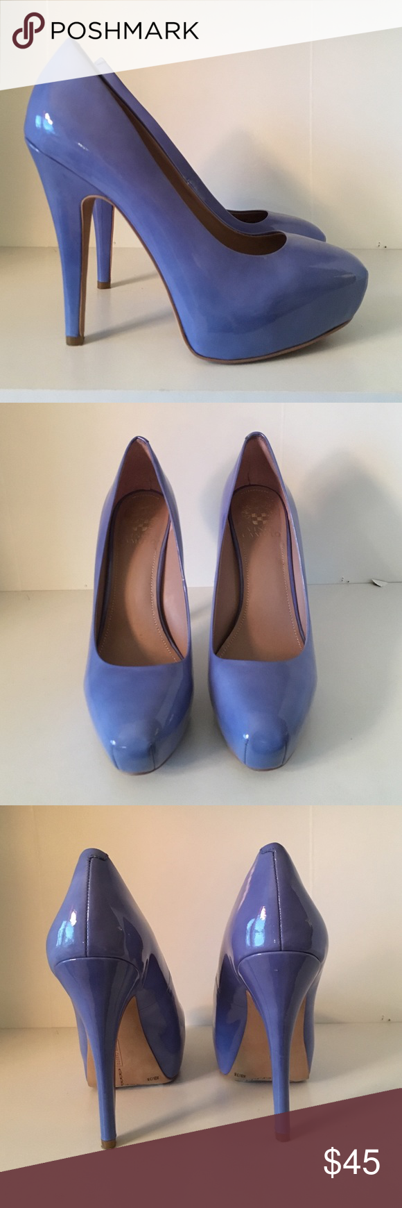 BRAND NEW Vince Camuto heels! I am so in love with these heels but I simply haven't found anything to wear them with for over a year! Never worn before, perfect condition, true to size! Patten leather material! Vince Camuto Shoes Heels