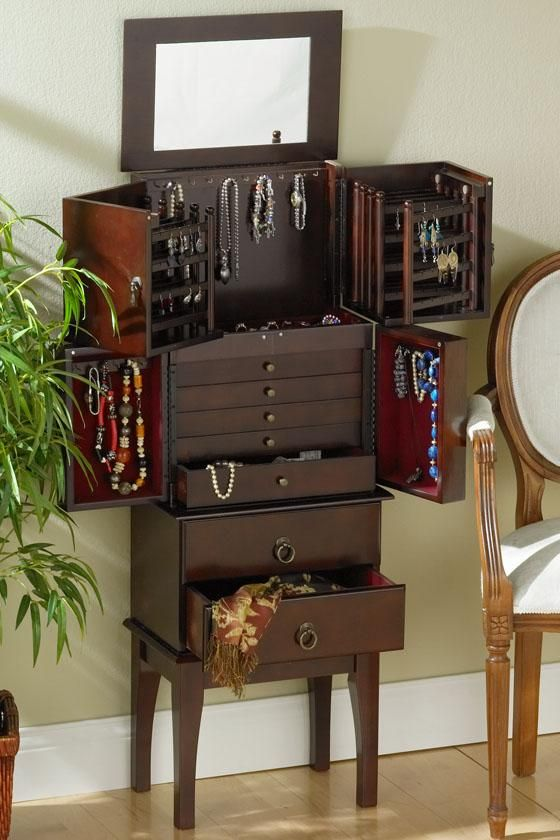 Gabriel Jewelry Armoire Jewelry Armoires Bedroom Furniture Furniture Homedecorators Com Furniture Decor Armoire