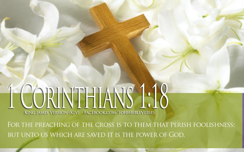 Bible Verse About Faith 1 Corinthians 118 Cross HD