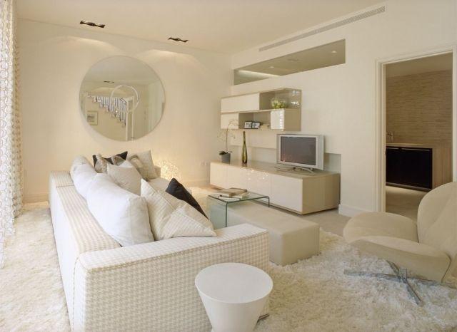 Ideen Wohnzimmer Einrichten Weiss Cremeweiss Modern