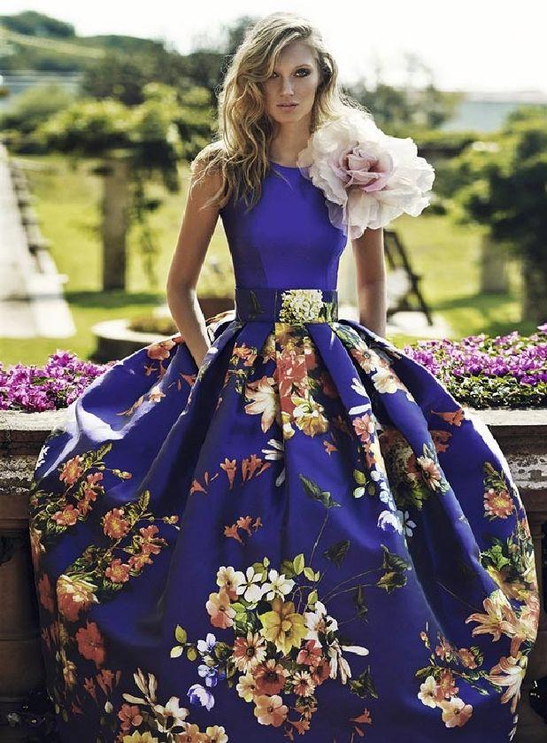 Vestidos de fiesta estampado flores