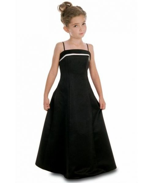 Long Black Bridesmaid Dresses KIDS