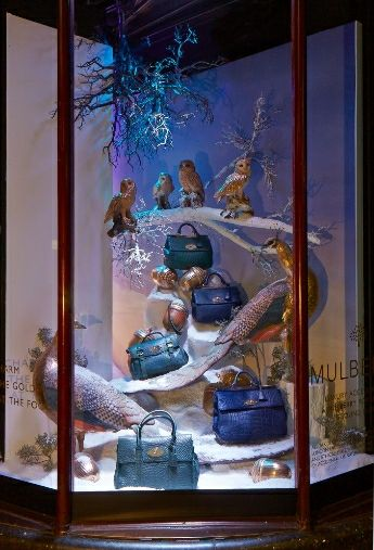 Mulberry evokes fairy tale lore for its holiday windows at Harrods