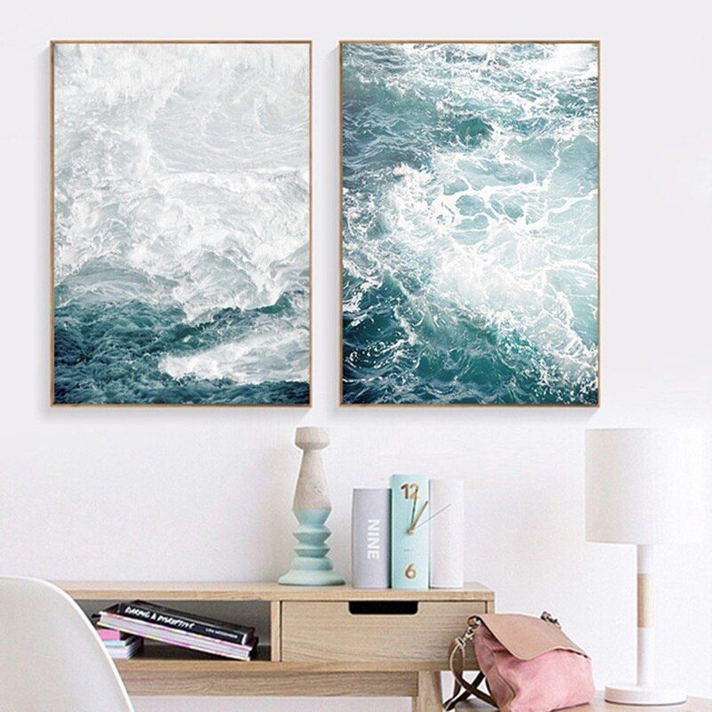 Abstract Seascape Posters /& Prints Canvas Painting Canvas Wall Art Wall Pictures