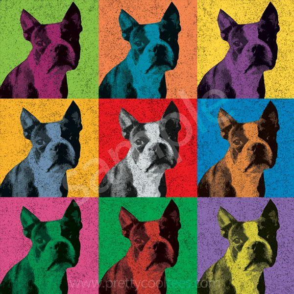 Boston Terrier Pop-Art Tee