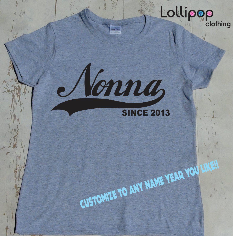 4e646736 Grandma tshirt Grandma Gift Nonna Since grandma gifts for baby   Etsy