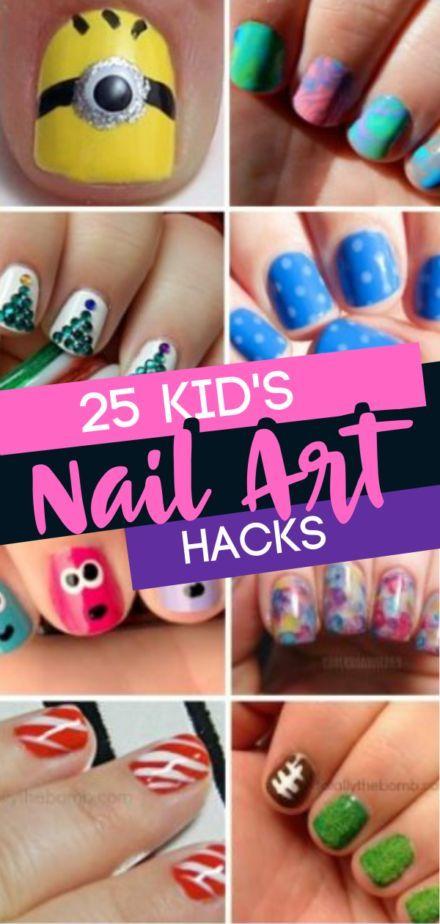 25 Nail Art Hacks für Kinder  #hacks #kinder #diynageltipps #koreannailart